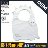 出口外贸日本欧美 儿童宝宝婴儿卡通恐龙造型口水巾围嘴围兜