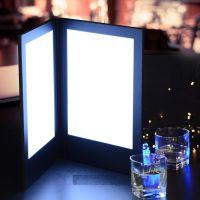 厂家直销 高档酒店发光菜单本LED MENU酒吧KTV亚克力发光酒水单LED菜谱
