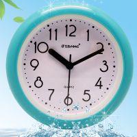 欧式浴室钟防雾防水静音卫生间时钟厨房创意壁挂时钟石英钟表