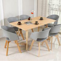 湖南大碗菜实木六人餐桌,白蜡木餐桌价格,深圳众美德定制餐桌