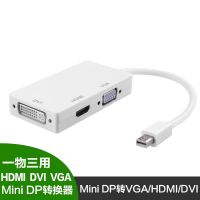 苹果电脑迷你mini DP转DVI HDMI VGA DP三合一转换器 雷电转接口