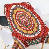 简约波西米亚风定制涤纶桌布 奢华印花 原创设计跨境代发