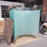 广东玻璃工厂量销热弯玻璃3-19MM烤弯弧形玻璃 弯玻隔断安装定做