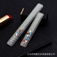 厂家直销  韩国纳米玻璃指甲锉 美甲亮甲神器 新款加长星空带钻