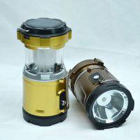 LED马灯太阳能野营露营帐篷应急带手电筒小马灯光能充电移动电源