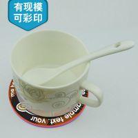 硅胶隔热杯垫 食品级防滑卡通硅胶杯垫 有现模现货可定制任意图案