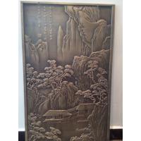 锢雅精雕红古铜铝板浮雕壁画,铝艺浮雕背景墙