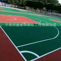 东莞塘厦球场地面漆工程施工