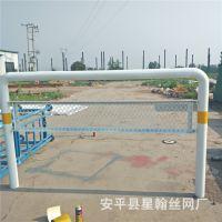 热镀锌移动插拔式防护栏 隔离反光防撞护栏89管 镶网片插拔护栏