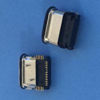 TYPE-C 防水母座 L=9.15MM 固定脚 三面排针 板上型母座