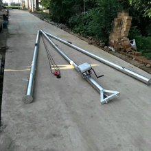 倒立式人字抱杆,立杆工具多少钱,用于吊装;售后有保障框架式铝合金抱杆,组立杆塔电力工程拔杆 洪涛