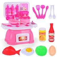 儿童仿真厨房过家家玩 具益智餐具做饭灶台套装男孩女孩厨具玩具