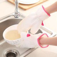 竹纤维洗碗手套厨房清洁加厚防水防油防滑吸水耐磨家务手套单只售