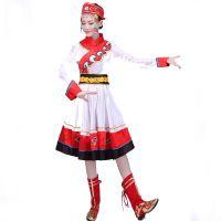 蒙古舞蹈演出服女2018新款现代成人蒙族民族风衣服广场舞服装套装