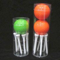 现货供应PVC吸塑圆筒 高尔夫球一个球六个钉透明圆形包装盒定制