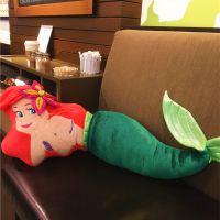 一件代发小美人鱼抱枕靠垫公仔Ariel 爱丽儿大号毛绒玩具娃娃儿童