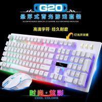 跨境专供追光豹G20悬浮机械手感家用办公键盘鼠标套装wish亚马逊