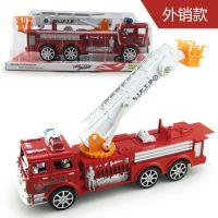 厂价直销 新款儿童惯性玩具车 大号仿真消防云梯车 模型玩具批发