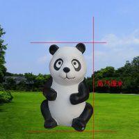 现货直销彩绘树脂仿真熊猫雕塑国宝户外公园动物模型玻璃钢摆件