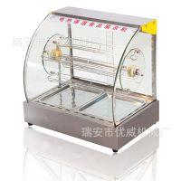商用弧形旋转玻璃食品保温柜旋转展示柜等保温展示柜系列蛋挞机