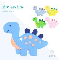 婴儿创意卡通动物硅胶咬牙胶 宝宝按摩牙床安抚牙胶玩具母婴用品