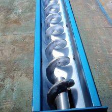 倾斜移动式干粉U型螺旋输送机 输送距离可选择