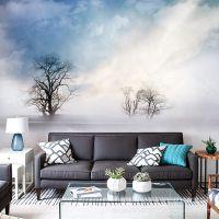北欧手绘天空艺术墙纸客厅卧室电视背景墙壁纸大型无纺布壁画墙布