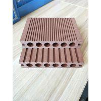 塑木厂家直销优质PE木塑圆孔地板 天津木塑地板