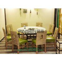 餐椅实木牛角椅西餐厅奶茶店咖啡厅桌椅组合定制火锅桌椅 现代中式