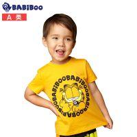 加菲猫儿童童装短袖纯棉T恤1-3岁男童宝宝女夏装白色体恤