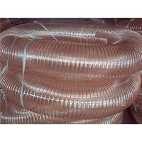 pu透明钢丝缠绕管武汉pu钢丝伸缩除尘波纹管120mmpu木工机械吸尘管鹏跃塑胶软管