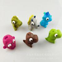 环保PVC搪胶动物玩具公仔精灵钥匙扣挂件 玩偶 摆件 捏捏乐 挤眼