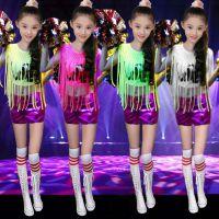 新款六一儿童爵士舞演出服女现代舞蹈服中小学生啦啦操啦啦队服装