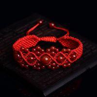厂家直销 纯手工天然红玛瑙红绳手串 本命年优质手链手串 批发
