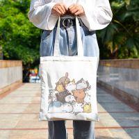 很多猫咪购物袋可爱萌简约装书包女单肩包手提袋来图定制帆布包