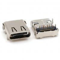 全包后盖板上TYPE-C半插半贴母座/四脚插板DIP+SMT/脚长1.2mm