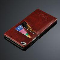 华为P8 pu油蜡纹插卡后盖 华为P8手机壳保护套保护壳皮套