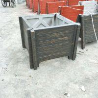 低价格出售景观园林工程专用水泥仿木花箱 种植花卉树木花池
