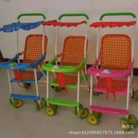 婴儿推车仿藤编手推车可坐轻便折叠儿童手推车婴儿车