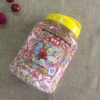 利百事巧克力彩针七彩糖珠700g 烘焙彩糖针线蛋糕冰淇淋装饰糖珠