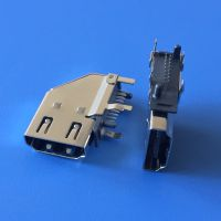 HDMI侧插母座 19P-90度侧立式插座 HDMI高清音频插座 插板弯脚DIP