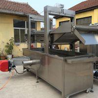厂家专业定制燃气青豆连续油炸机不锈钢油炸设备
