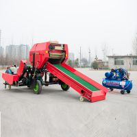 衡水青贮饲料机打捆包膜机 怎么青贮玉米秸秆 打捆包膜机有补贴