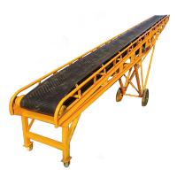 [都用]成袋大米卸车输送机 500宽移动式输送机 粮食装卸皮带机