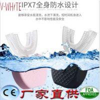美白全自动智能牙刷纳米蓝光电动硅胶懒人声波牙刷套外贸工厂