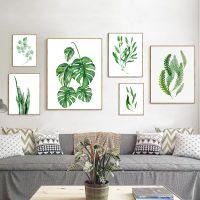 ins北欧风格客厅装饰画沙发背景墙挂画照片墙组合壁画小清新绿植
