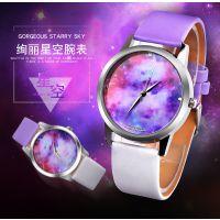 新款PAPHITAK/百菲达 梦幻银河   紫色星空宇宙手表 月球手表