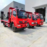 东风拉13吨挖机平板车厂家 130钩机板车哪里买?