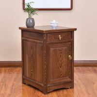 红木小柜子简约中式实木储物柜茶柜鸡翅木柜子床头柜床边柜清仓