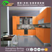 广州专业外贸出口橱柜整体304不锈钢厨房橱柜中岛台不锈钢台面